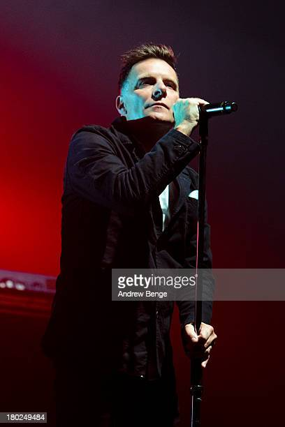 Ricky Ross of Deacon Blue performs on stage at York Barbican on September 10 2013 in York England