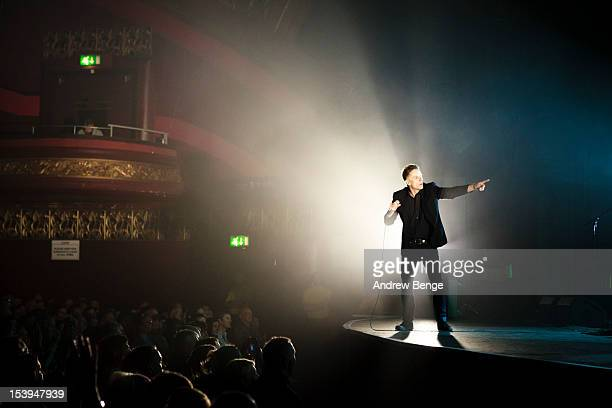 Ricky Ross of Deacon Blue performs on stage for their 25th Anniversary Tour at Manchester Apollo on October 11 2012 in Manchester United Kingdom