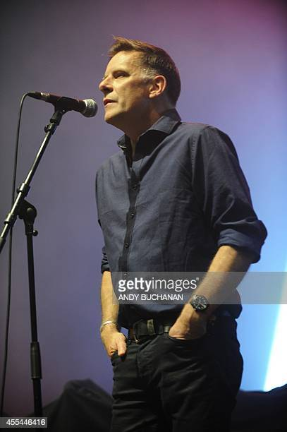 Ricky Ross of McIntoshRoss performs at the 'A Night For Scotland' proindependence concert at the Usher Hall in Edinburgh Scotland on September 14...