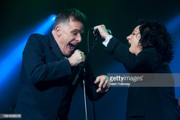 Ricky RossLorraine Mcintosh of Deacon Blue performing on stage at at BIC Bournemouth on November 22 2018 in Bournemouth England