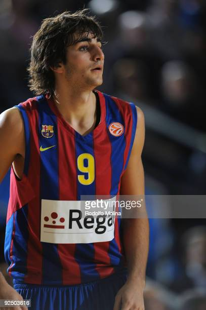 Ricky Rubio #9 of Regal FC Barcelona in action during the Euroleague Basketball Regular Season 20092010 Game Day 2 between Regal FC Barcelona vs KK...