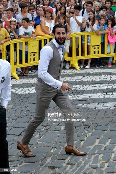 Ricky Rubio attends the wedding of baskettball player Sergio Llull and Almudena Canovas on July 1 2017 in Menorca Spain