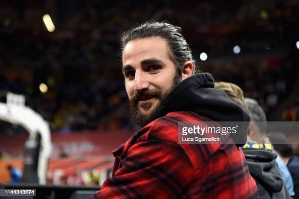 Ricky Rubio NBA player attends 2019 Turkish Airlines EuroLeague Final Four Semifinal B game between Semifinal B CSKA Moscow v Real Madrid at Fernando...