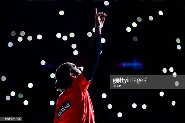 Ricky Rubio of Spain reacts before the finals between Argentina and Spain of 2019 FIBA World Cup at the Cadillac Arena on September 15 2019 in...