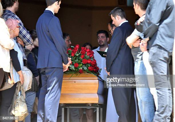 Ricky Rubio's brother Marc Rubio attends the funeral for Tona Vives mother of the Minnesota Timberwolves basketball player Ricky Rubio at Sant Pere...