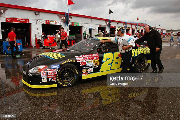 Ricky Rudd driver of the Havoline Ford Taurus during practice for the EA Sports 500 at Talladega Superspeedway on October 4 2002 in Talladega Alabama