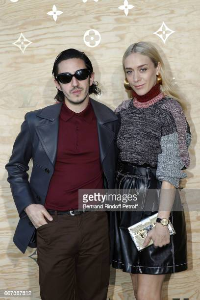 Ricky Saiz and actress Chloe Sevigny attend the LVxKOONS exhibition at Musee du Louvre on April 11 2017 in Paris France