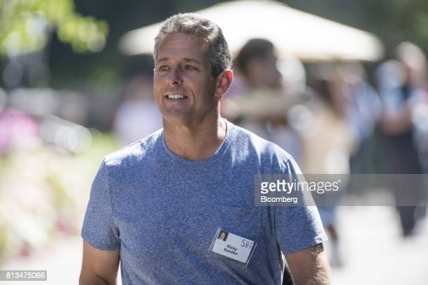 Ricky Sandler founder and chief executive officer of Eminence Capital LP walks the grounds after a morning session during the Allen Co Media and...