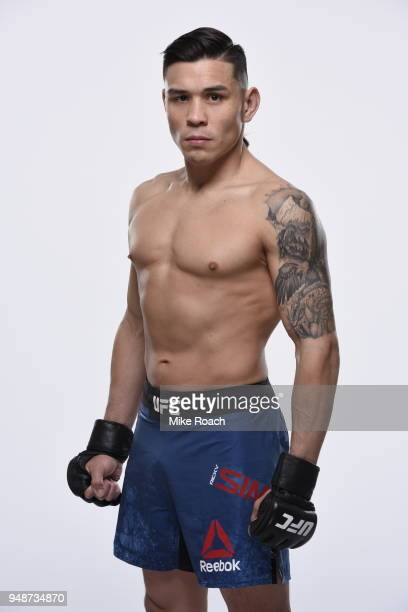 Ricky Simon poses for a portrait during a UFC photo session on April 18 2018 in Atlantic City New Jersey