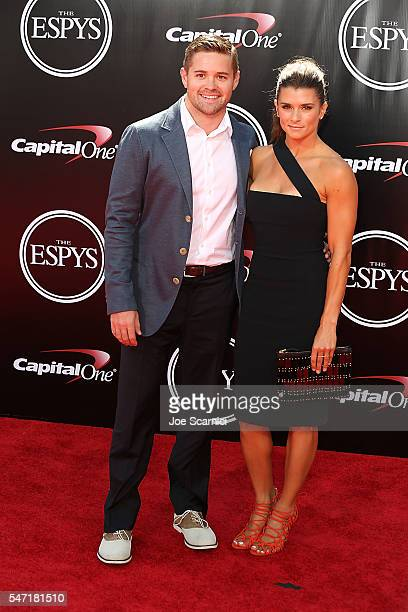 Ricky Stenhouse Jr and Danika Patrick arrive at The 2016 ESPYS at Microsoft Theater on July 13 2016 in Los Angeles California