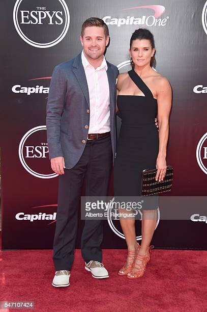 Ricky Stenhouse Jr and race car driver Danica Patrick attend the 2016 ESPYS at Microsoft Theater on July 13 2016 in Los Angeles California