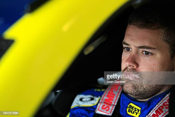 Ricky Stenhouse Jr driver of the Best Buy Ford during practice for the NASCAR Sprint Cup Series Camping World RV Sales 301 at New Hampshire Motor...