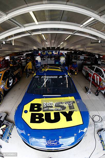 Ricky Stenhouse Jr driver of the Best Buy Ford during practice for the NASCAR Sprint Cup Series AdvoCare 500 at Atlanta Motor Speedway on August 31...