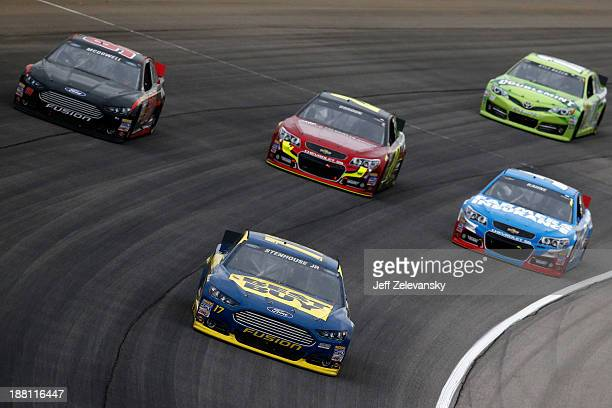 Ricky Stenhouse Jr driver of the Best Buy Ford during the NASCAR Sprint Cup Series Geico 400 at Chicagoland Speedway on September 15 2013 in Joliet...