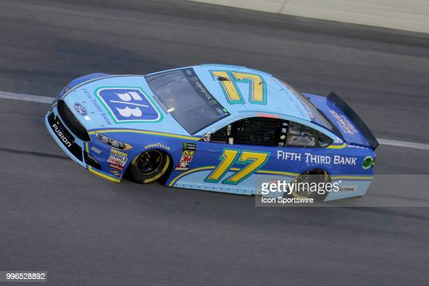 Ricky Stenhouse Jr driver of the Fifth Third Bank Ford during the Coke Zero 400 Monster Energy Cup Series race on July 7 at Daytona International...