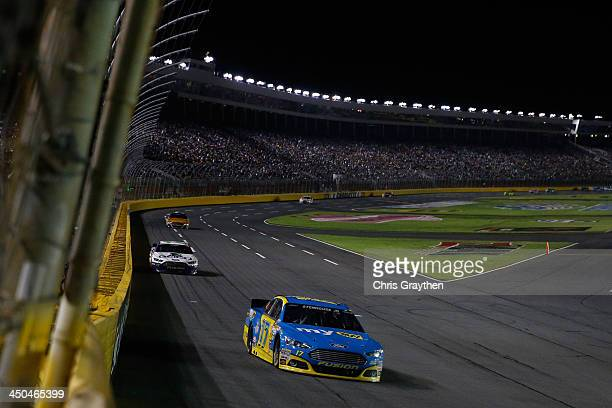 Ricky Stenhouse Jr driver of the My Best Buy Ford during the NASCAR Sprint Cup Series Bank of America 500 at Charlotte Motor Speedway on October 12...