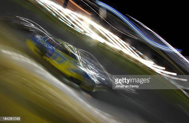 Ricky Stenhouse Jr driver of the My Best Buy Ford races the NASCAR Sprint Cup Series Bank of America 500 at Charlotte Motor Speedway on October 12...