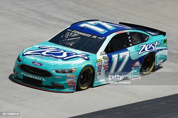 Ricky Stenhouse Jr driver of the Zest Ford practices for the NASCAR Sprint Cup Series Food City 500 at Bristol Motor Speedway on April 14 2016 in...