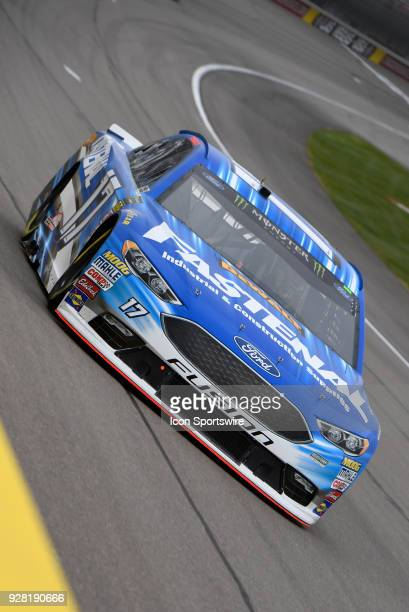 Ricky Stenhouse Jr Roush Fenway Racing Ford Fusion drives down the front stretch during practice for the Monster Energy NASCAR Cup Series 21st Annual...