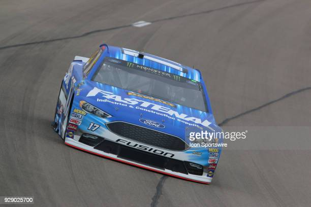 Ricky Stenhouse Jr Roush Fenway Racing Ford Fusion during final practice for the Pennzoil 400 Saturday March 3 at Las Vegas Motor Speedway in Las...