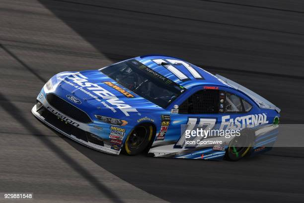 Ricky Stenhouse Jr Roush Fenway Racing Ford Fusion works his way through turn one during the Monster Energy NASCAR Cup Series 21st Annual Pennzoil...