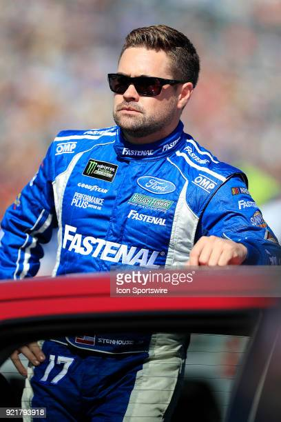 Ricky Stenhouse Roush/Fenway Racing Fastenal Ford Fusion prior to the 60th running of the Daytona 500 on February 18 at the Daytona International...