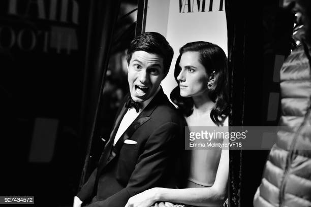 Ricky Van Veen and Allison Williams attend the 2018 Vanity Fair Oscar Party hosted by Radhika Jones at Wallis Annenberg Center for the Performing...