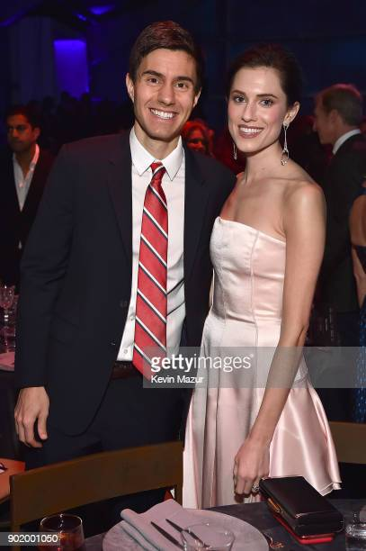 Ricky Van Veen and Allison Williams attend the 7th Annual Sean Penn Friends HAITI RISING Gala benefiting J/P Haitian Relief Organization on January 6...