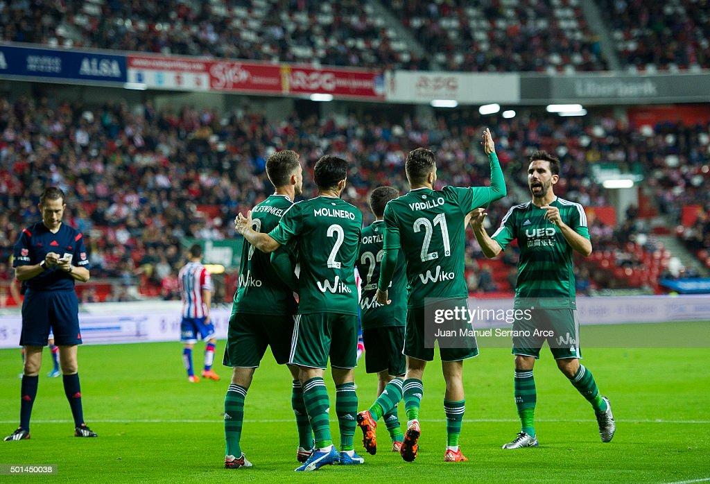 Sporting Gijon v Real Betis Balompie - Copa del Rey: Round of 32 : News Photo