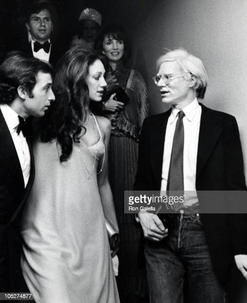 Ricky von Opel Marisa Berenson and Andy Warhol during 'American Women of Art' Exhibition at Metropolitan Museum of Art in New York City New York...