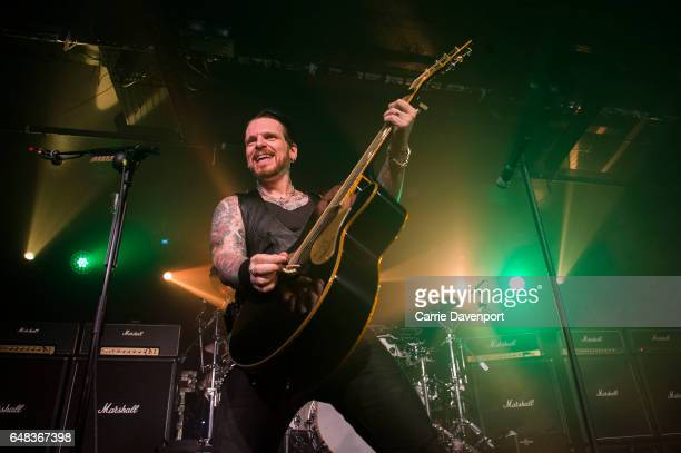Ricky Warwick of Black Star Riders performs at The Limelight on March 5 2017 in Belfast Northern Ireland