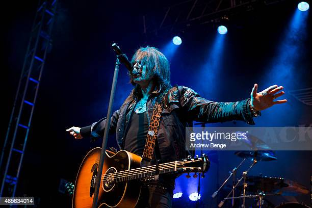 Ricky Warwick of Black Star Riders performs on stage at O2 Academy Leeds on March 8 2015 in Leeds United Kingdom