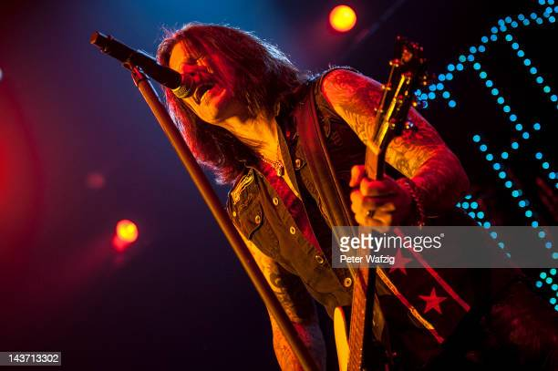 Ricky Warwick of Thin Lizzy performs on stage at the MitsubishiElectricHall on May 01 2012 in Duesseldorf Germany