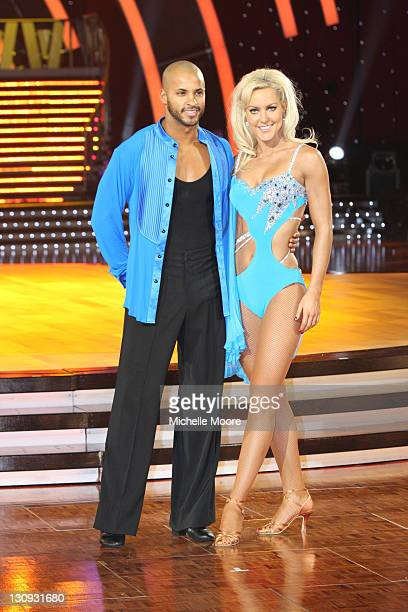Ricky Whittle and Natalie Lowe attend a photocall ahead of the Strictly Come Dancing Live Tour 2011 at Nottingham Capital FM Arena on January 14 2011...