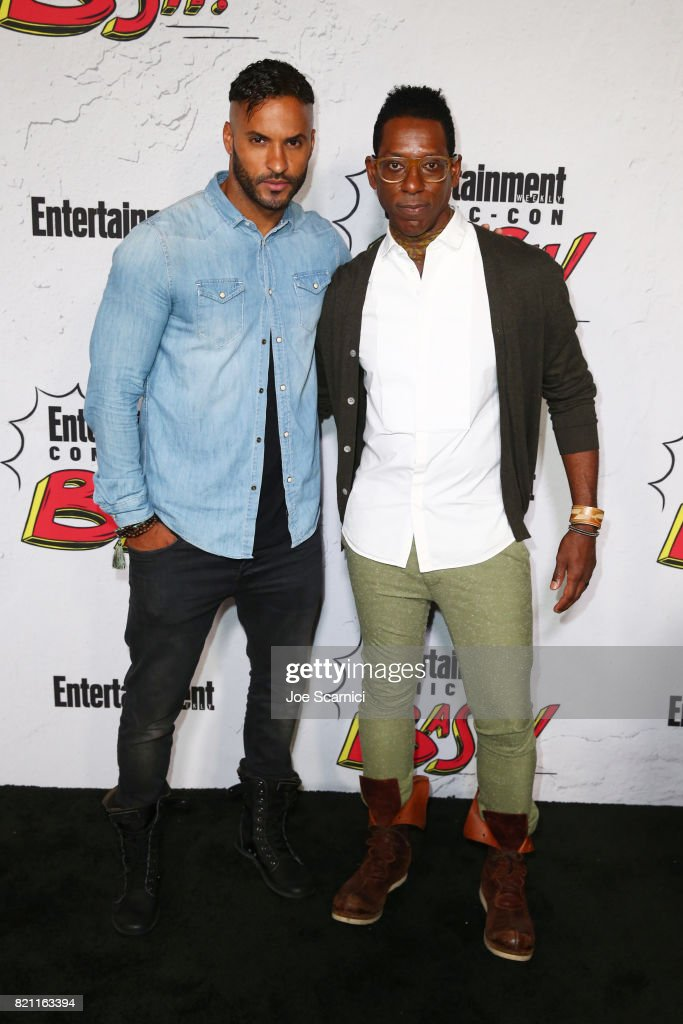 Ricky Whittle and Orlando Jones at Entertainment Weekly's annual Comic-Con party in celebration of Comic-Con 2017 at Float at Hard Rock Hotel San Diego on July 22, 2017 in San Diego, California.