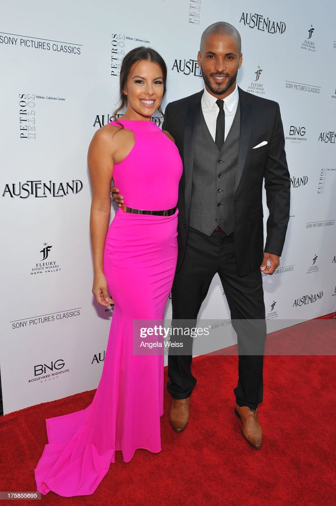Ricky Whittle and Sandra Hinojosa arrive at the premiere of 'Austenland' at ArcLight Hollywood on August 8, 2013 in Hollywood, California.