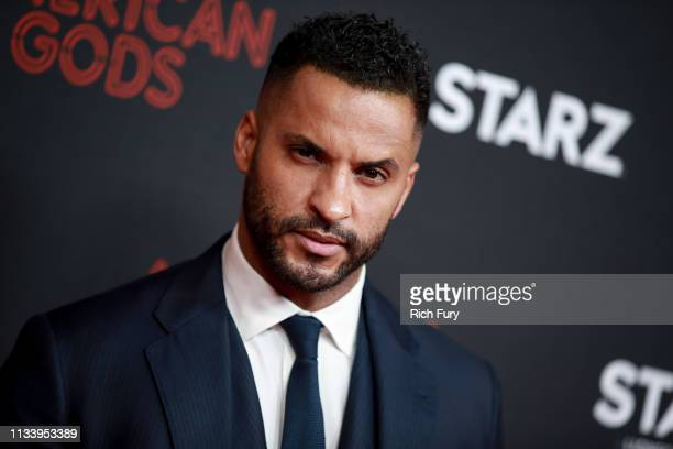 """Ricky Whittle attends the premiere of STARZ's """"American Gods"""" season 2 at Ace Hotel on March 05, 2019 in Los Angeles, California."""