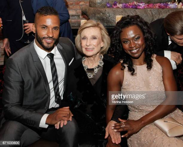 Ricky Whittle Yetide Badaki and Yetide Badaki attend the premiere of Starz's 'American Gods' after party on April 20 2017 in Hollywood California