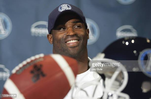 Ricky Williams, currently suspended by the National Football League, signed a one year contract with the Toronto Argonauts of the Canadian Football...