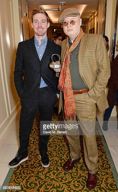 Ricky Wilson and Andy Partridge winner of the Q Songwriter award pose in the press room at the Xperia Access Q Awards at The Grosvenor House Hotel on...