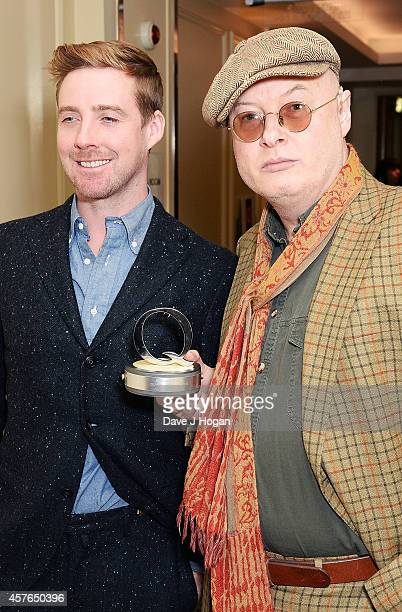 Ricky Wilson and Andy Partridge with his Q Songwriter award at the Xperia Access Q Awards at The Grosvenor House Hotel on October 22 2014 in London...
