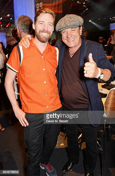 Ricky Wilson and Brian Johnson attend as guests of Jaguar at the global reveal of the new XE in London at Earls Court on September 8 2014 in London...