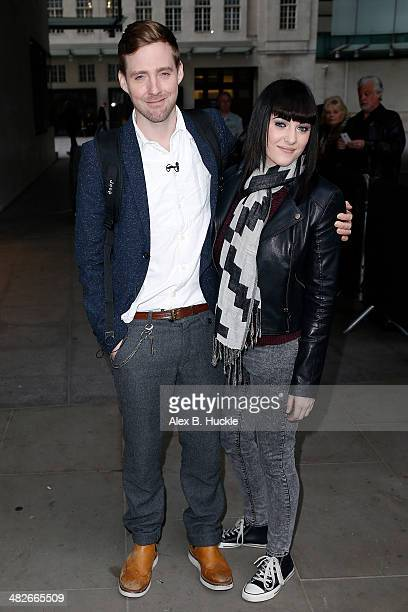 Ricky Wilson and Christina Marie from The Voice seen at BBC Radio One on April 4 2014 in London England