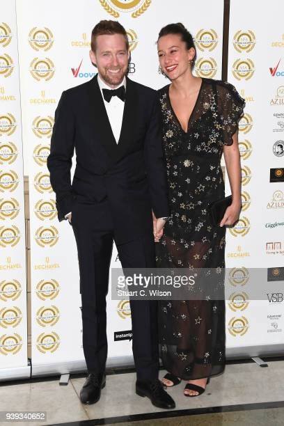 Ricky Wilson and Grace Zito attend the National Film Awards UK at Porchester Hall on March 28 2018 in London England