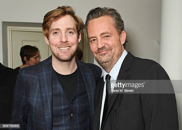 Ricky Wilson and Matthew Perry attend an after party celebrating the World Premiere of 'The End Of Longing' written by and starring Matthew Perry on...