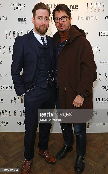 Ricky Wilson and Oliver Spencer attend Larry Kings first UK salon opening supported by Copper Dog Whisky on January 25 2017 in London England