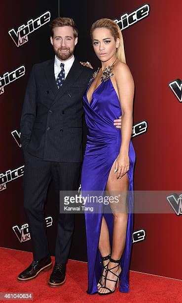 Ricky Wilson and Rita Ora attend the launch of The Voice UK Series 4 at The Mondrian Hotel on January 5 2015 in London England