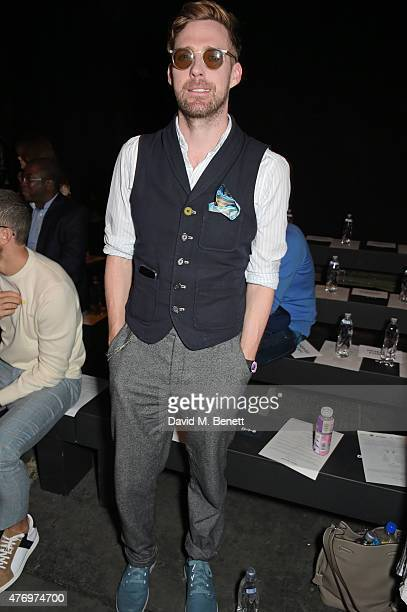 Ricky Wilson attends the front row at the Oliver Spencer show during London Collections Men SS16 at The Old Sorting Office on June 13 2015 in London...