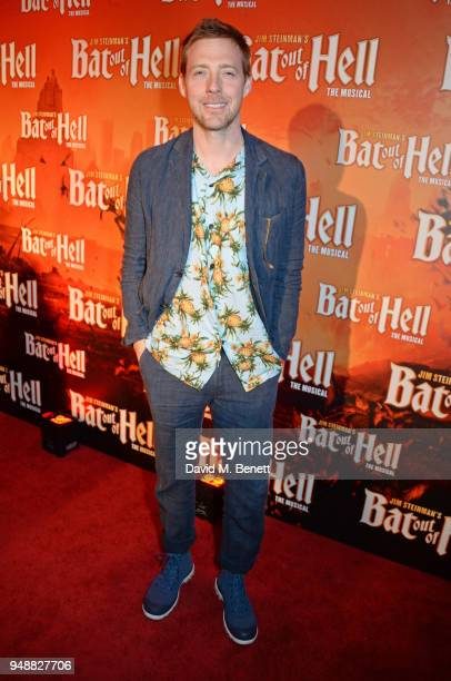 Ricky Wilson attends the Gala Night after party for Bat Out Of Hell The Musical at the Bloomsbury Ballroom on April 19 2018 in London England