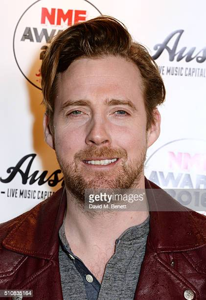 Ricky Wilson attends the NME Awards with Austin Texas at the O2 Academy Brixton on February 17 2016 in London England